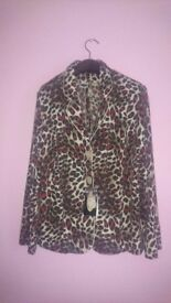 sale new beautiful leopard print jacket