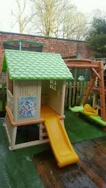 Smoby swing and slide set playhouse