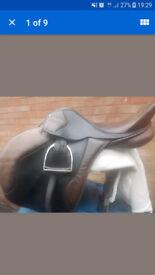 Antil Crusader English Leather Saddle