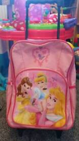 Disney Princess pull along suitcase bag