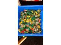 Box full of toy soldiers