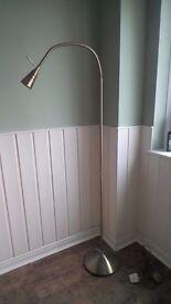 Brass reading floor lamp