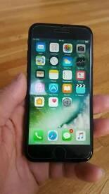 Iphone 7 unlocked black pristine condition