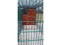 Dog kennel 6 1/2 feet x 4 1/2 feet. run 10 feet