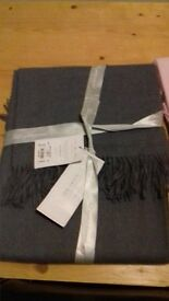 Lovely Grey and Pink Ted Baker throws. 100% Alpaca. Brand New. Was £185 each will accept £75 each