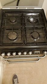 HOTPOINT HUD61K Dual Fuel Cooker - BLACK 60CM GAS AND ELECTRIC OVEN
