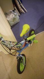 TOY STORY BIKE WITH STABILISERS EXCELLENT USED CONDITION