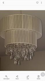 Cream /white lampshade