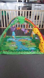 Fisher price rainforest baby activity mat