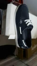 Brand new navy slip on shoes