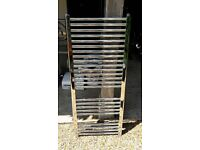 Chrome finish towel rail
