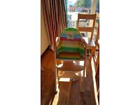 Mothercare wooden high chair