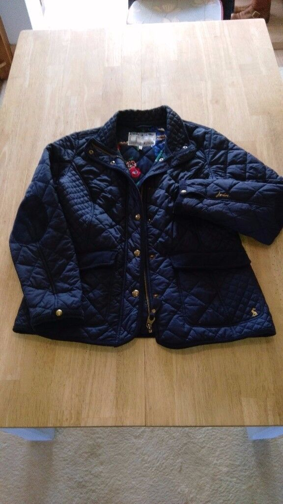 Joules Moredale Quilted Jacket In Marine Navy Size 14 In Crewe