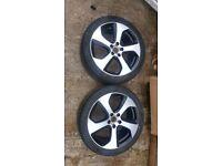 Vw golf mk7 gti 18 inch alloy wheels x2