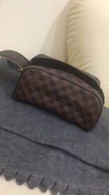 Authentic luis Vuitton king size toiletry bag damier ebene