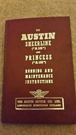 Austin sheerline and Princess running and maintenance instructions