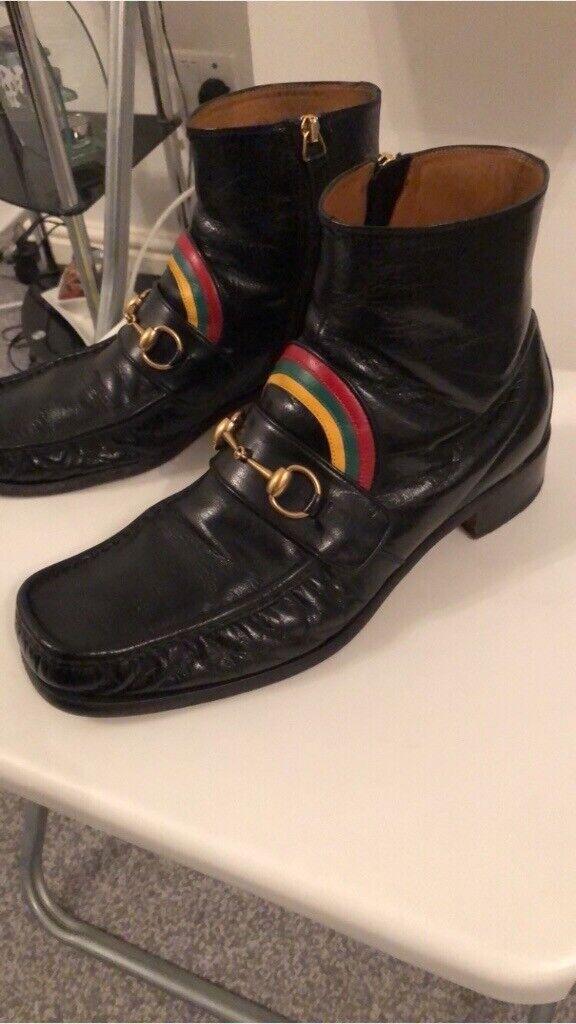 0f340bf34c3 Gucci Rainbow Horsebit Boots