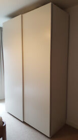 IKEA Pax Sliding Doors Wardrobe, White (bought in October 2017, excellent conditions)