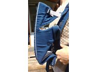 Blue Baby Björn carrier with Back supports