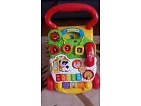 Vitech first steps baby walker in excellent working condition with batteries.