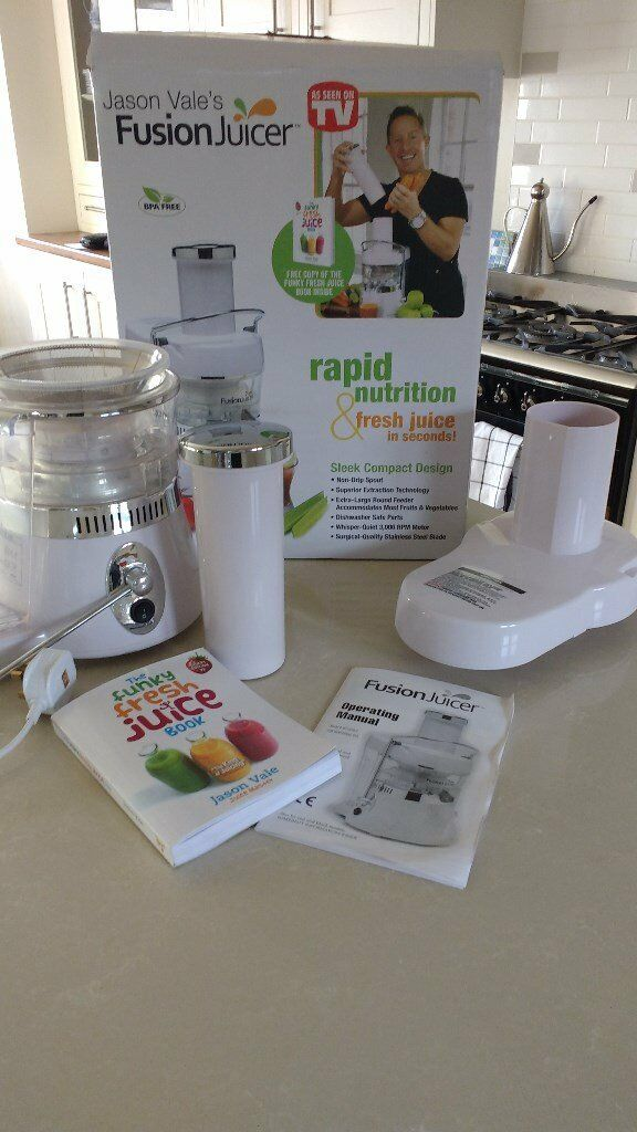 Jason Vale's Fusion Juicer for sale. As new.
