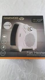 Daewoo 2000w portable fan heater