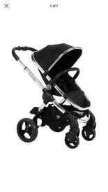 Icandy peach 2 black magic with denim maxi cosi pebble car seat