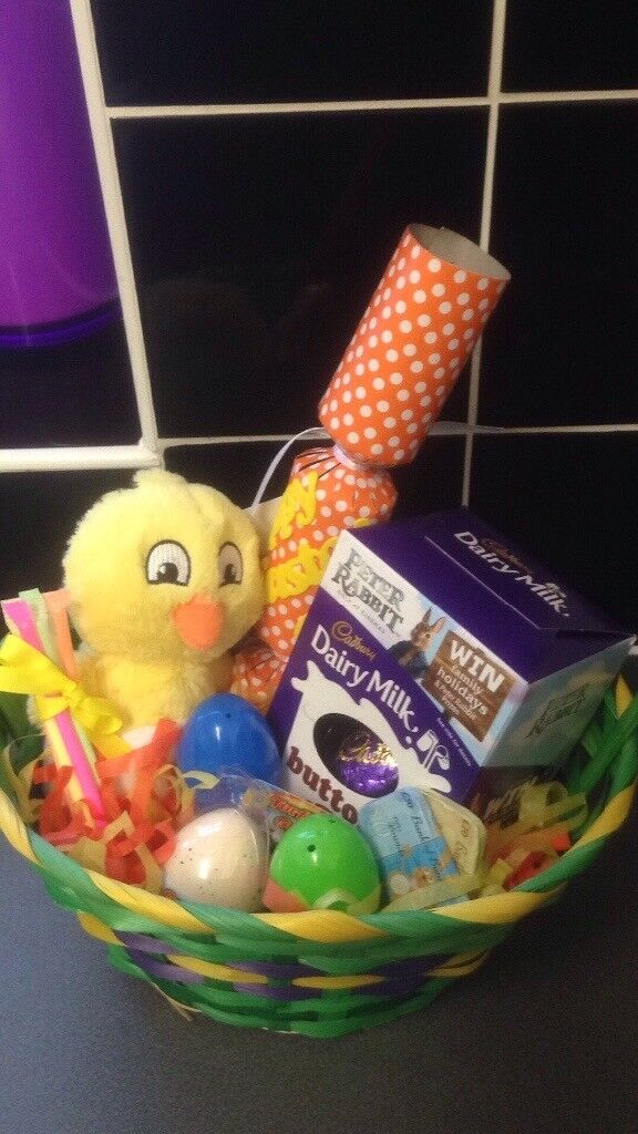 A must see easter gift basket full of treats and a hatching egg easter gift basket full of treats and a hatching egg negle Image collections