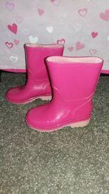 pink girls wellies