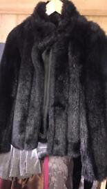 Black Faux Fur jackey