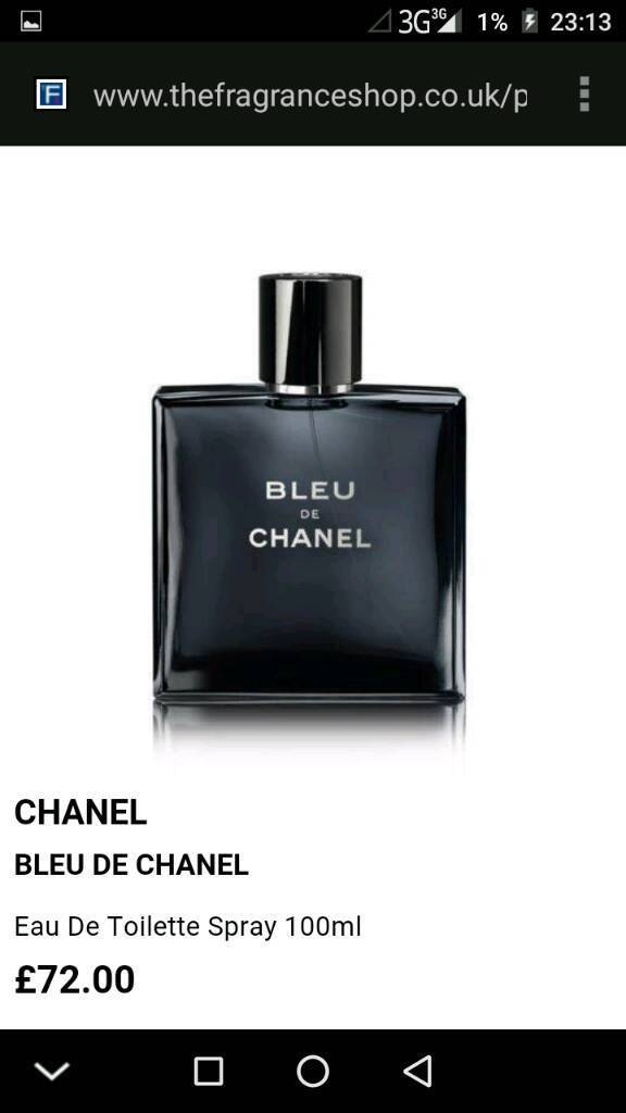 Bleu De Chanel Aftershave Brand New Boxed In Bournemouth