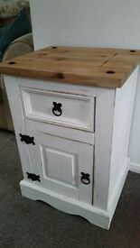 Shabby chic small cupboard with drawer