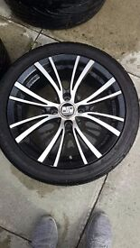 """Peugeot 206 - Four 16"""" Alloys with tyres - Good tread!"""