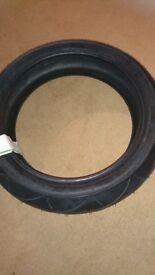 Brand new rear motorbike tyre
