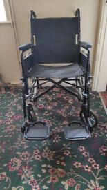 Wheelchair with leg support and Zimmer Frame for sale