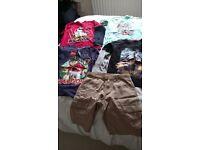 Boys T shirts and shorts