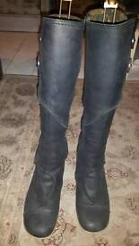 Fly black leather boots size 7