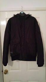Mens Black Jack & Jones Ski Style Winter Coat/Jacket - Size Small- Collection Cwmbran NP44