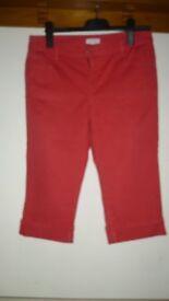 Ladies Monsoon Peach Crop Jeans - size 12