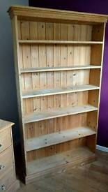 Large pine freestanding bookcase