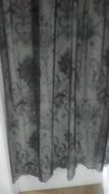 Black Net Curtains