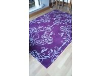 Purple and grey large rug....would suit living room or bedroom, excellent condition