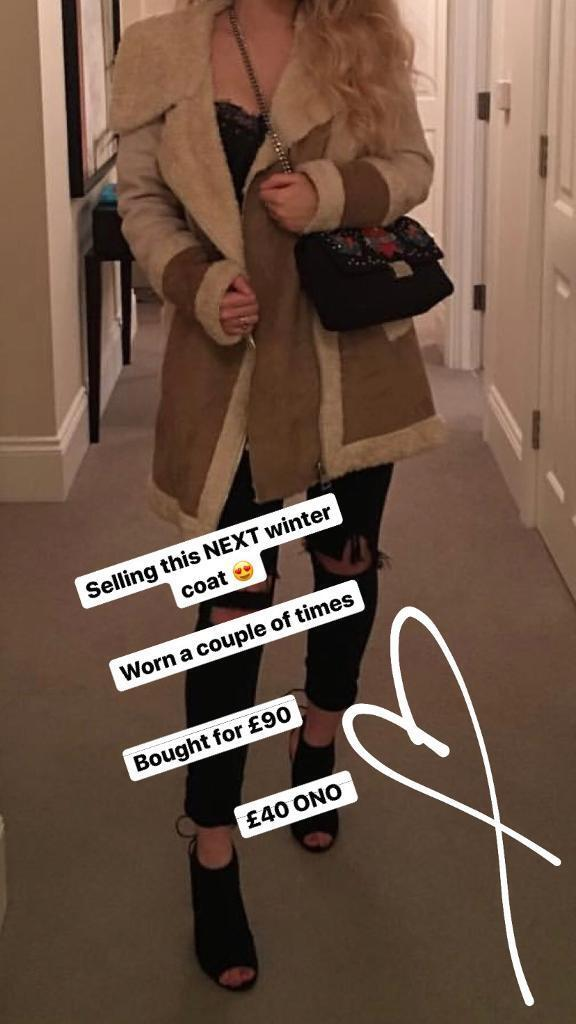 Womens NEXT faux shilling coat