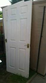 2x white internal doors