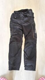 LADIES RICHA MOTORBIKE TROUSERS 3M SCOTCHLITE REFLECTIVE MATERIAL