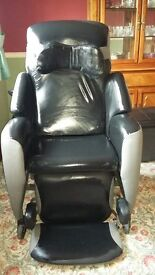 Kirton GE2 electric tilt in space disability chair. Nearly new cost £3049.99 leather upholstory