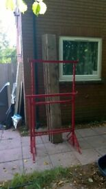 pair of Tressles 1.1m to 1.7m high with 4 x 2.4m scaffold boards
