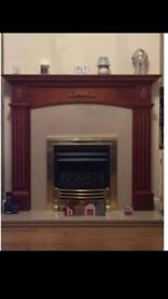 Electric fire place with surrounding