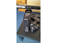 xbox 360 slim, kinect, 2 controllers, headset, lots of games