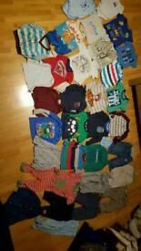 9 - 12 month boys clothes bundle - 35 items